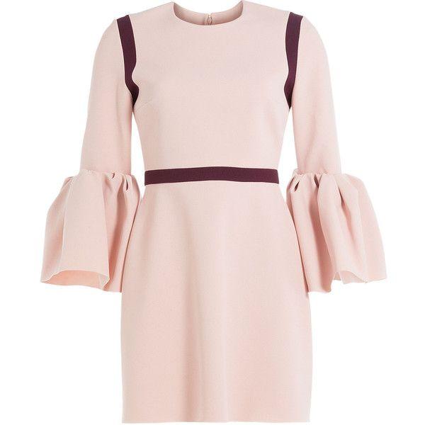 Roksanda Crepe Dress ($1,320) ❤ liked on Polyvore featuring dresses, rose, rose pink dress, roksanda, crepe dress, pink dress and pale pink dress