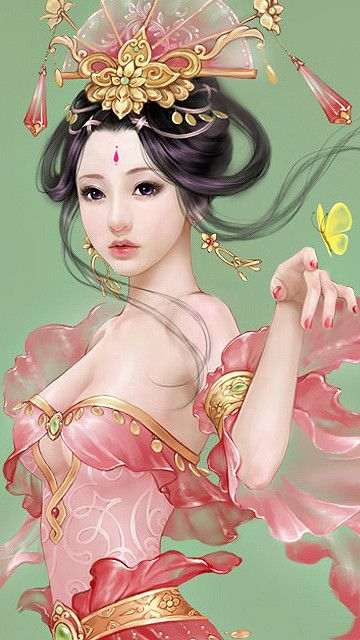 This would be a lovely arm piece with an Asian inspired frame :3