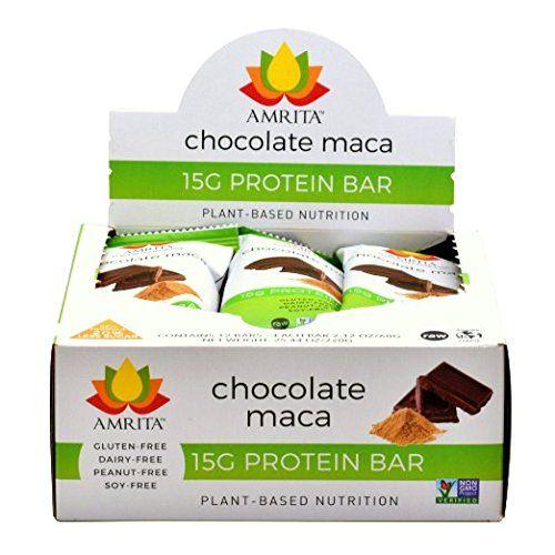 Amrita Protein Chocolate Maca Nutrition Bars (12 pack) Am...