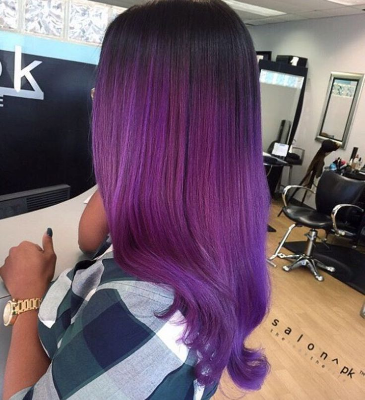 Obsessing over this purple ombre by @salonpk - https://blackhairinformation.com/hairstyle-gallery/obsessing-purple-ombre-salonpk/