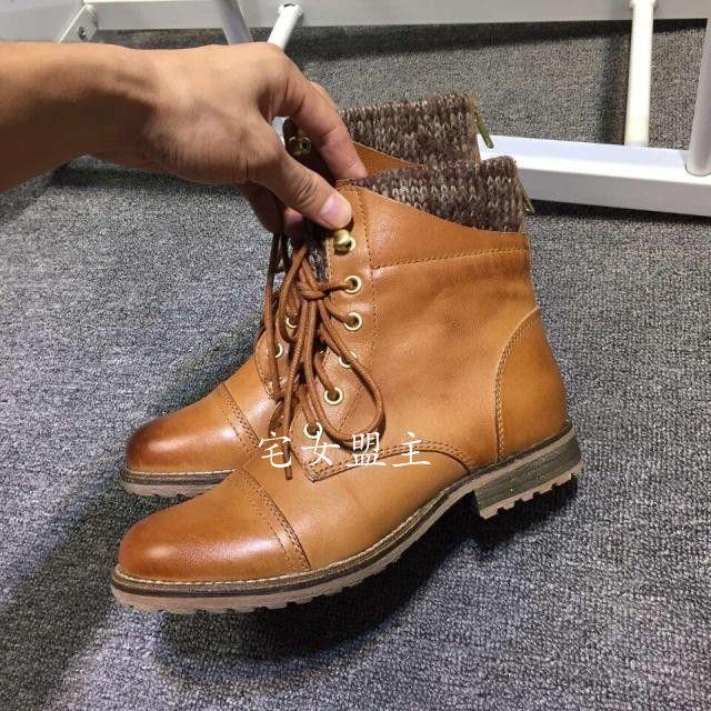 2015 новые зимние сапоги Мартин сапоги кожаные ботинки на шнурках в цилиндре, чтобы сделать старый кожаные сапоги мотоцикла сапоги женские женская - глобальная станция Taobao