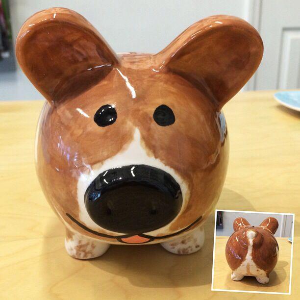 corgi piggy bank. genius!  TnT Petsitting provides pet sitting services in Huntsville, AL Call Tony at 256-714-6795