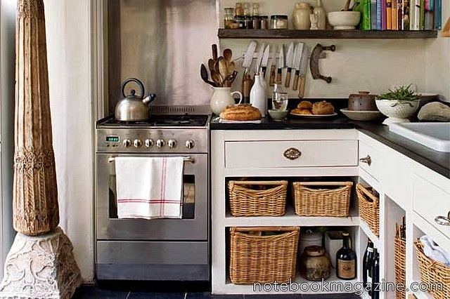 Open Base Cabinets With Baskets Kitchen Dreaming