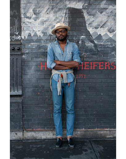 SPRING ACCESSORIES | The Panama hat. All jeans look. Look great! | New York City Street Style by Ben Ferrari: Style: GQ