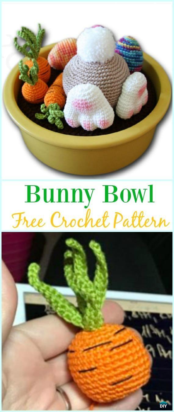 Amigurumi Crochet Bunny Bowl Free Pattern - #Crochet; Amigurumi #Bunny; Toy Softies Free Patterns
