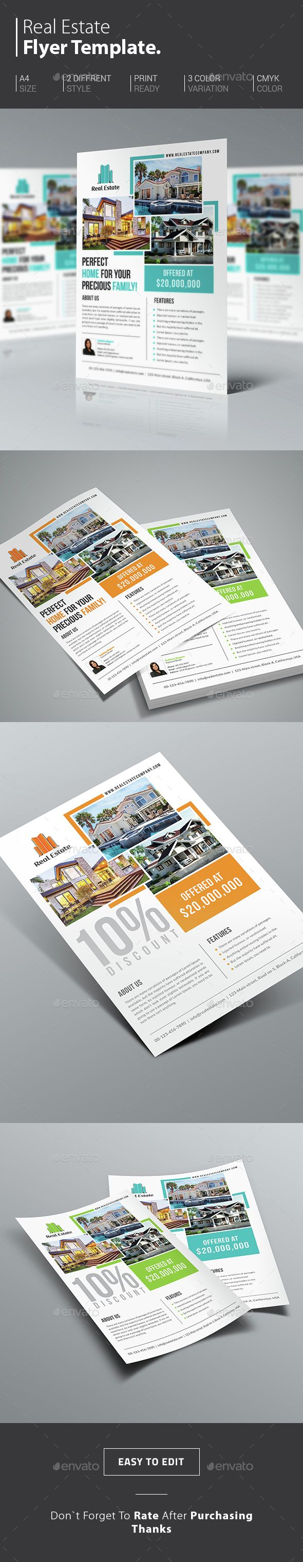 Real Estate PSD Flyer Template + Real Estate Magazine Ad Design Template | Real Estate Flyer - Real Estate Flyer design | Commercial Real Estate Flyer - Real Estate Agent Flyer | Open House Flyer Template | http://graphicriver.net/item/real-estate-flyer/14643847?ref=themedevisers
