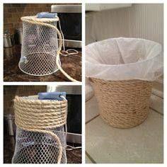 Yo podría hacer esto alrededor de las cajas o contenedores de plástico para el…