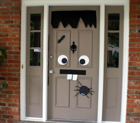 8 clever ways to decorate your doors this halloween