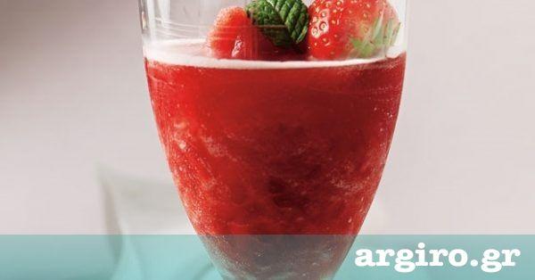 Ένα από τα ωραιότερα ποτά που μπορούμε να σερβίρουμε στους καλεσμένους μας. Μπορούμε να χρησιμοποιήσουμε οποιαδήποτε γεύση σορμπέ θέλουμε: μανταρίνι, πεπόνι, καρπούζι, μάνγκο κ.ά.