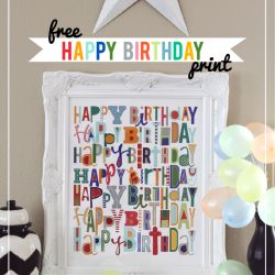 Free happy birthday print at iheartnaptime.com ...such a fun way to let your loved ones know you're thinking about them on their special day. #freeprintable