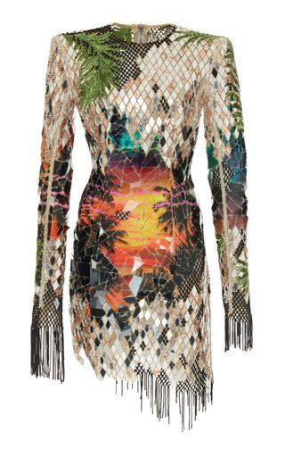 353c823d2d Mirror Embroidered Print Dress by Balmain Resort 2019