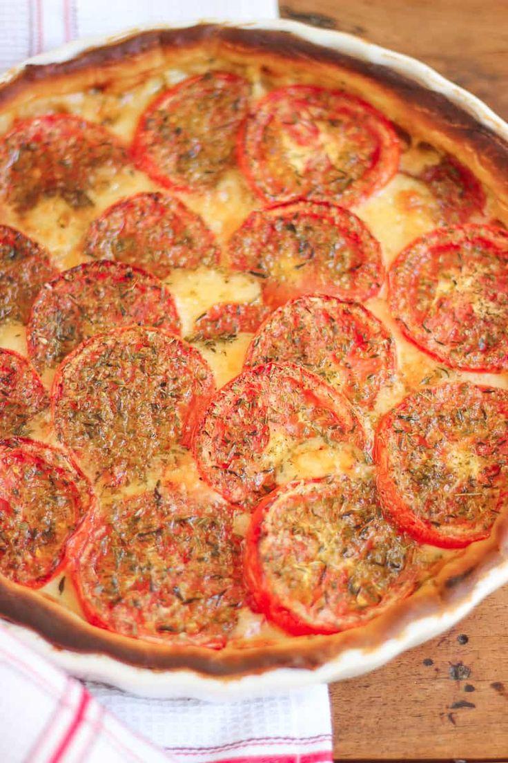 Tarte tomate moutarde au conté