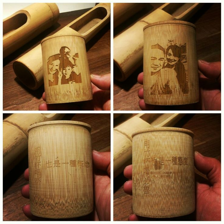 #Bamboo cup #Laser engraving #Drinking with bamboo