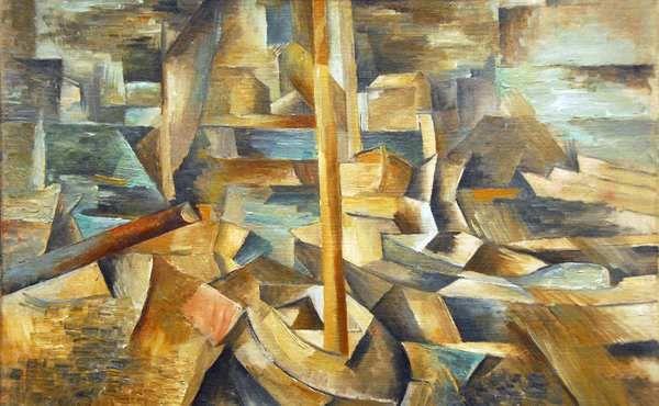 """- Harbor. George Braque 1909 - Lo primero que nos tenemos que preguntar es ¿qué significa la palabra cubismo?, sin más, explicaros que hace referencia a las palabras irónicas del crítico de arte Louis Vauxcelles cuando habla de la pintura de Braque en los siguientes términos: """"reduce todo a esquemas geométricos, a cubos""""."""