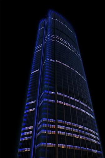 Mise en lumière de la tour Montparnasse Concepteur lumière : Régis Clouzet, Agence Lumière