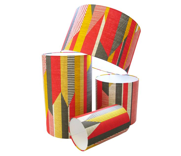 Tamasyn Gambell   Textured Stripe Lampshade   www.tamasyngambell.com