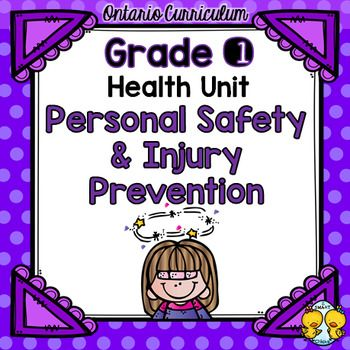 This carefully constructed, well-balanced unit corresponds with the 2015 Ontario Grade 1 Health Curriculum and covers the following expectations: -demonstrate an understanding of essential knowledge and practices for ensuring their personal safety -demonstrate the ability to recognize caring behaviours and exploitive behaviours, and describe the feelings associated with each -apply their