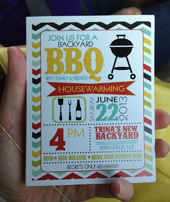 Housewarming BBQ Invite for @Katrina Appelquist Hamra Time: Weekend in Pictures: Firetrucks, Housewarming, Lake and more....