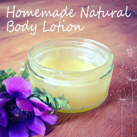 Homemade Natural Body Lotion Used With Beeswax, Coconut