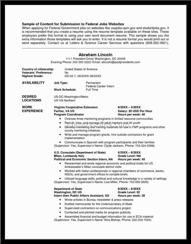 Federal Resume Example Federal Resume Resume Writer Resume Writing Services