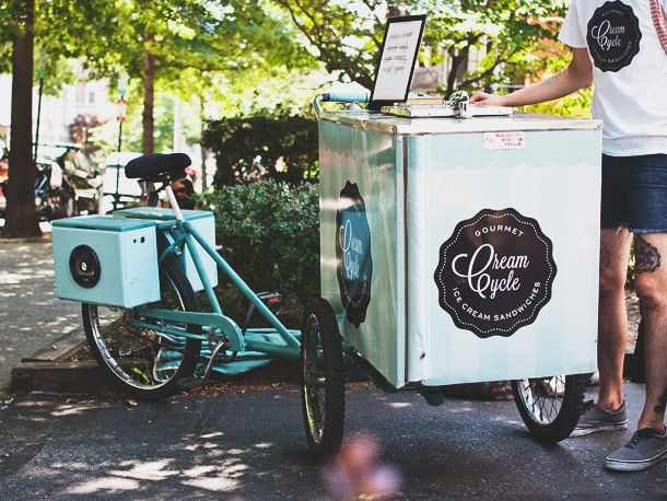 CreamCycle, Now Delivering Ice Cream Sandwiches by Tricycle in Washington DC #dessert #dc