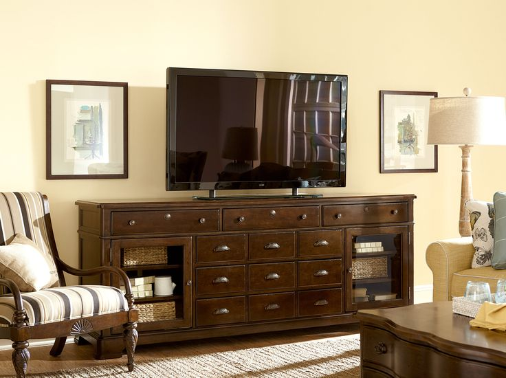 TV Stand/Media Center   Paula Deen By Universal River House 6 Drawer  Entertainment Console