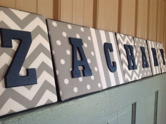 8x10 Nursery Letter upholstered letter plaques by spellitwithstyle