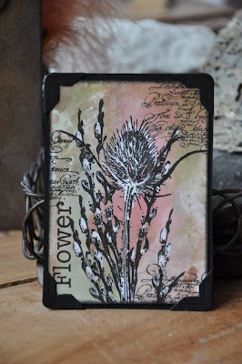 Thistle. Stamps: Art Journey