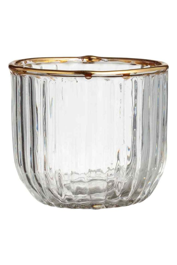 Textured tealight holder - Clear glass - Home All | H&M GB 1 £2.99