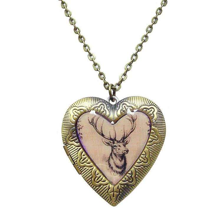 Oh Deer ! Heart Shape Locket Necklace