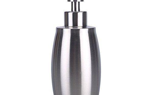 flintronic Distributeur de Savon en Acier Inoxydable, Distributeur de Savon Liquide 350ML pour Cuisines et Salles de Bain: Haute Qualité -…