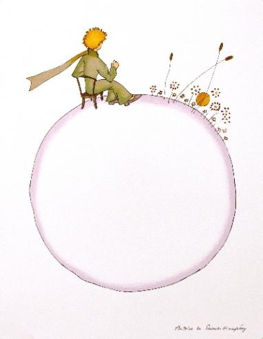 The Little Prince and the Sunset Lithograph $63.75
