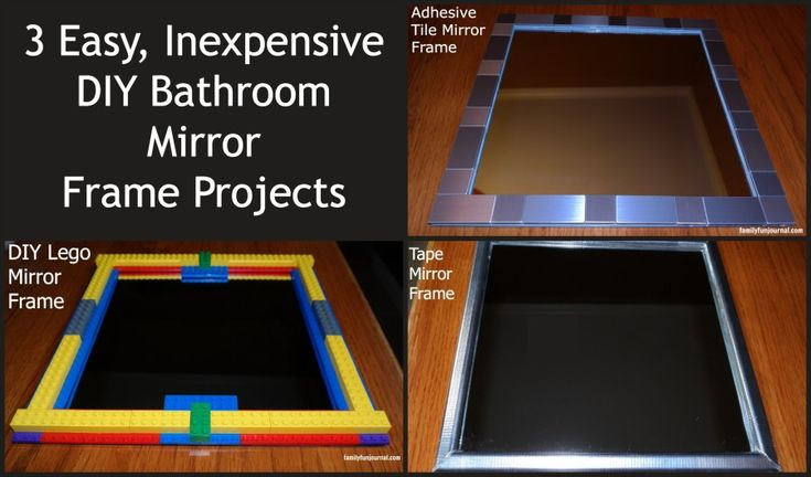 three diy bathroom mirror frames, crafts, painted furniture