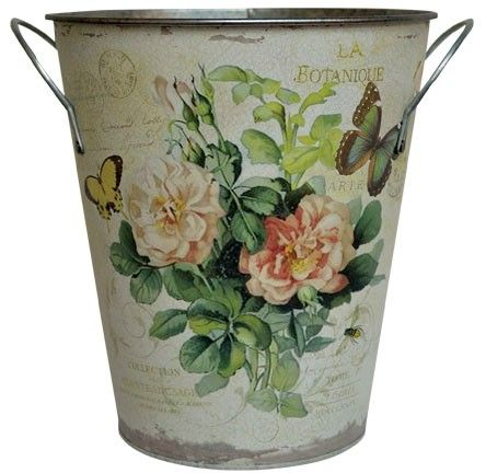 Shabby tin.... this would make the perfect trash can in my office