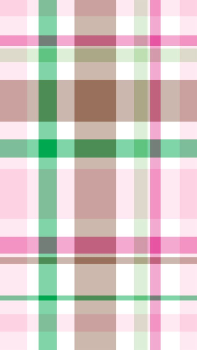 iPhone 5 wallpaper pink and green preppy plaid pattern