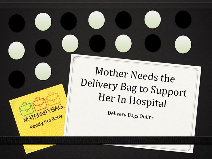Mother Needs the #Delivery #Bag to Support Her In #hospital