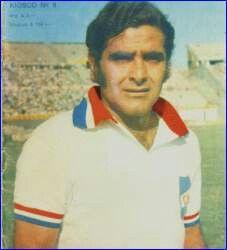 Luis Cubillas of CD Nacional & Uruguay in 1973.