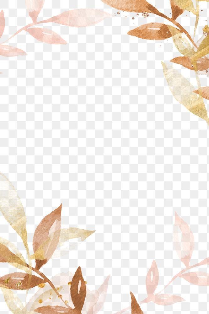 Watercolor Leaf Border Png Transparent Background Premium Image By Rawpixel Com Adj Watercolor Leaves Leaf Border Transparent Background