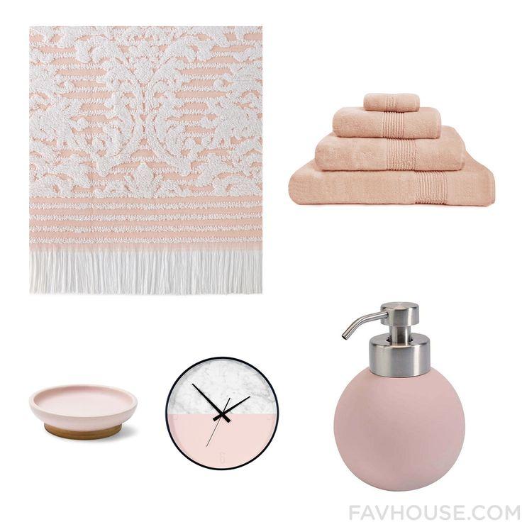 Decorating Wishlist Including Bath Towel Pink Bath Towel Aquanova Bath Accessories And Bamboo Bathroom Accessories From May 2016 #home #decor