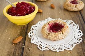 Gluten-free/no sugar added Raspberry Almond Thumbprint Cookies--a good ...