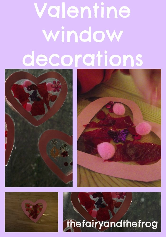 really easy valentine kids craft - heart window decorations