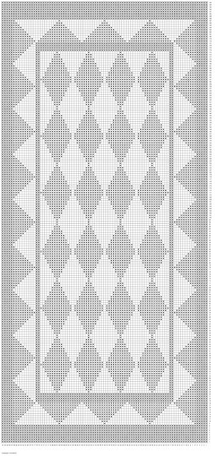 Diagram på babytæppe med harlekin tern/Free pattern chart for babyblanket with Harlequin - Hvadbiertaenker