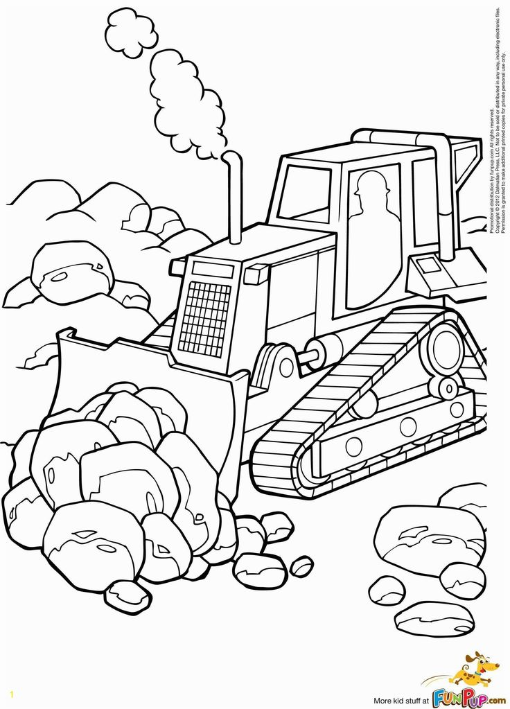 30 Lovely Construction Vehicles Coloring Pages
