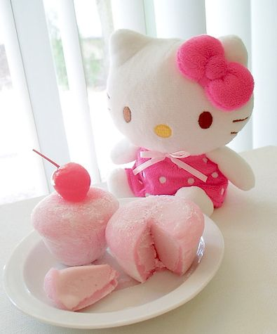 Hello Kitty Mochi ice cream cupcakes for girl's party!