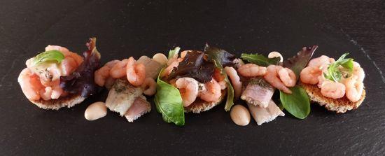 Recept paling met garnalen