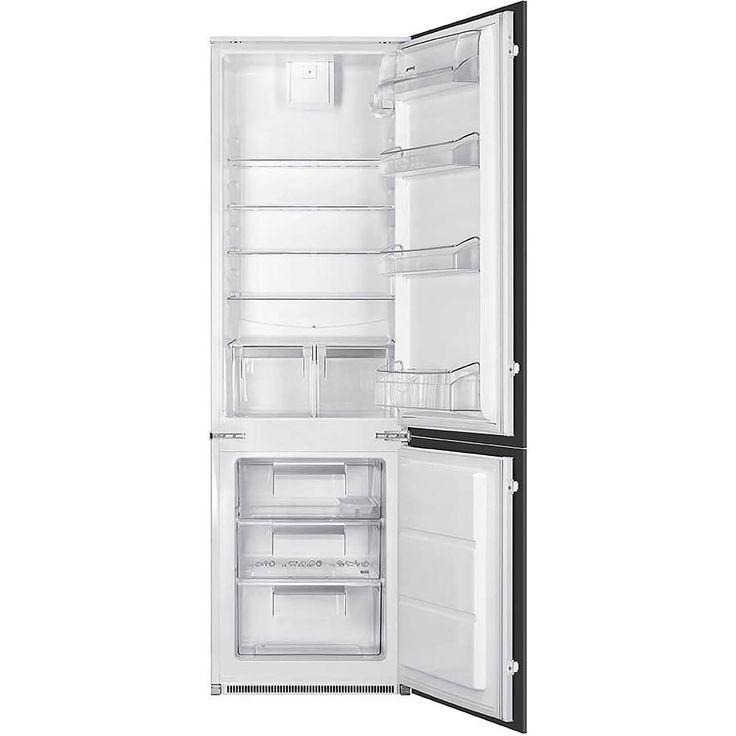 Smeg UKC7280FP Integrated 70/30 Fridge Freezer with Sliding Door Fixing Kit - White