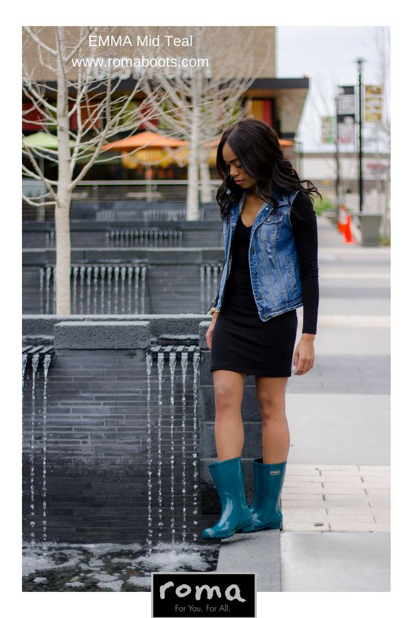 d493c4cd88f The EMMA Mid in Teal is such a great rain boot. It s colorful