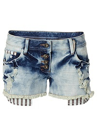 Jeansowe spodenki z kieszonkami