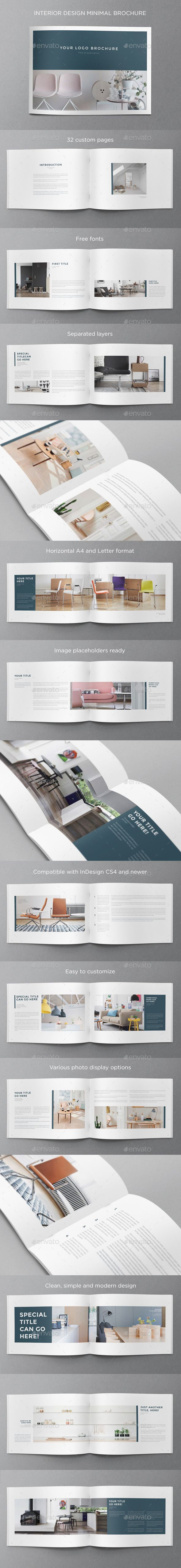 Interior Design Minimal Brochure — InDesign INDD #modern #minimal • Available here → https://graphicriver.net/item/interior-design-minimal-brochure/11243000?ref=pxcr