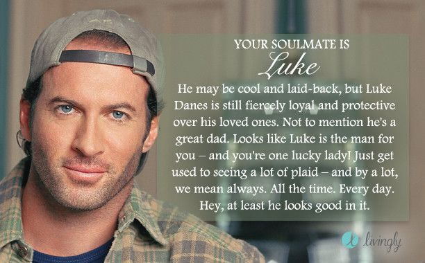 I took the Livingly 'Gilmore Girls Soulmate' quiz and got Luke. Who's yours? - Quiz  I was hoping for Dean, but Luke is cool lol, I like older men ha ha ha...